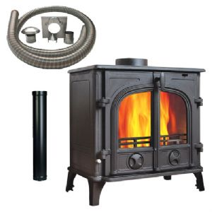 Cathedral 11 Multi fuel Stove with Installation Kit
